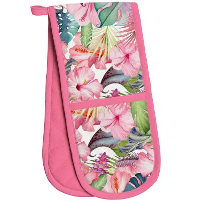 lesser & pavey double oven glove tropical paradise