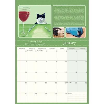 Magnificent Moggies' 2020 calendar little dog laughed january