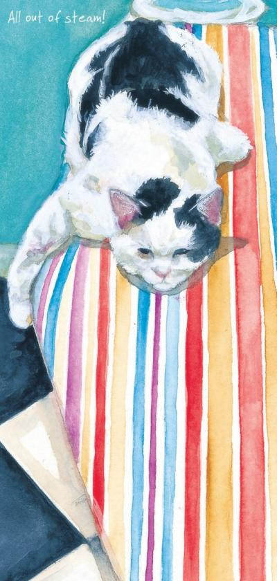 magnificent moggies greeting card ironing board little dog laughed anna danielle