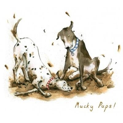 Trumpers World Mucky Pups Greeting Card Rosie Blair