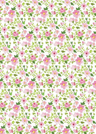 everyday gift wrap pink flowers