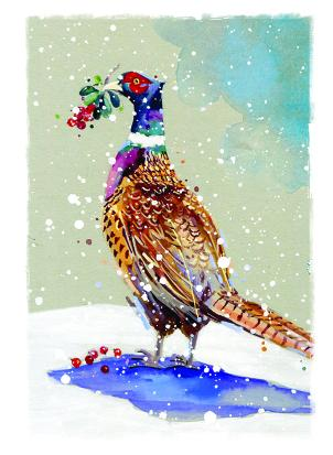 pheasant christmas tags ling design