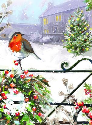 robin on gate christmas tags ling deisgn