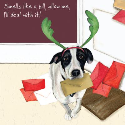 Little Dog Laughed Digs & Manor Christmas Greeting Card Dog Round Robin