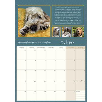 scruffy mutts calendar 2020 little dog laughed october