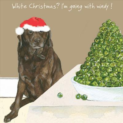 little dog laughed windy christmas card