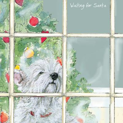 little dog laughed waiting christmas card