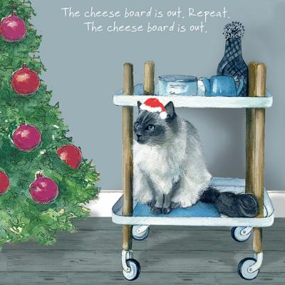 little dog laughed cat cheese board