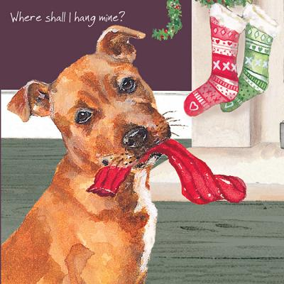 little dog laughed hang mine christmas card