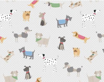 furry dog friends wrapping paper whistlefish