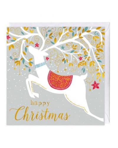 whistlefish golden stag christmas card