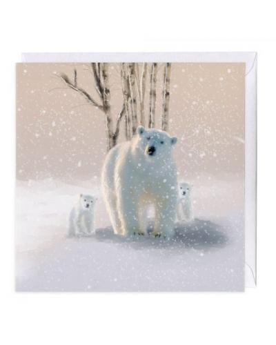 whistlefish polar bears christmas card