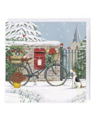 whistlefish bicycle delivery christmas card